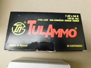 TulAmmo   Others 7 62x54R 148gr FMJ 60rds
