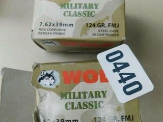 Wolf 7 62x39 124gr FMJ 40rds