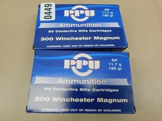PPU 300win mag 180gr SP 40rds