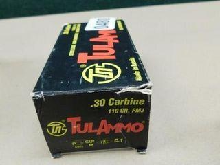 TulAmmo 30 Carbine 110gr FMJ 50rds