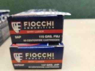 Fiocchi 9mm 147gr FMJ 100rds