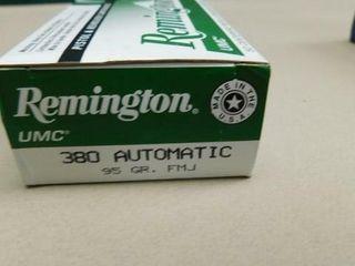 Remington 380auto 95gr FMJ 50rds