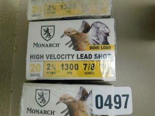 Monarch 20ga 2 3 4 7 5 75 rds