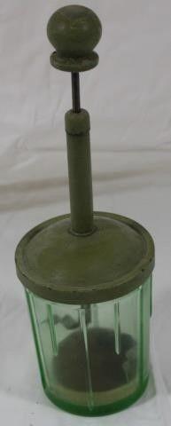 lorraine Metal Green Depression Glass 2C Chopper