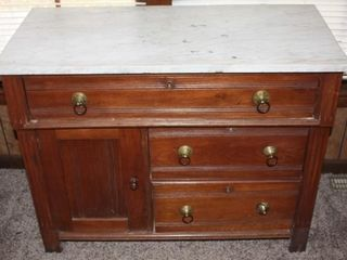 Antique Wash Stand Commode Parlor Table