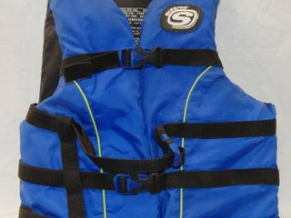 Blue life Jacket   Adult Universal   Fits Chest  30 52 Inches   Weight  Over 90 Ibs