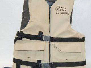 light Brown life Jacket   Kent Pro Fisherman   Adult Universal  Weight  More than 90 lbs  Chest Fits  30 52 inches