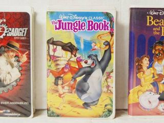 VHS Movies  Inspector Gadget  Jungle Book  Beauty and the Beast