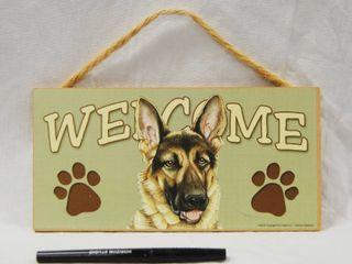 German Shepherd Wall Hanger  Welcoming Sign  VERY CUTE