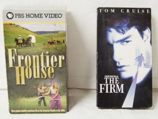 2 VHS Movies  Frontier House and The Firm