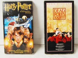 2 VHS Movies  Harry Potter and Dead Poets Society