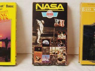 lot of 3 VHS Tapes  Summer Heat Bass  Nasa  Bass Strategies