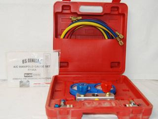 A C Manifold Gage Set  R134A  Model   92649  w  Instructions and Hard Case