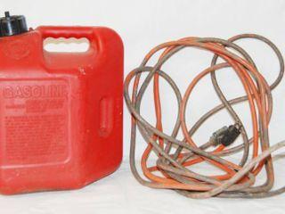 Gasoline Container 2 gallon  and Orange Electric Cord
