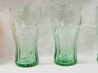 lot of 4 Coca Cola Drinking Glasses  Collectible