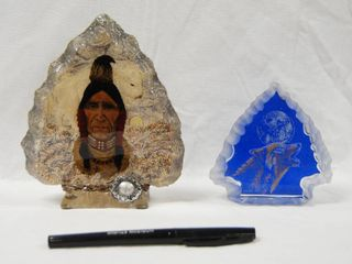 Indian Head Arrows and Indian Head Wolf Decor