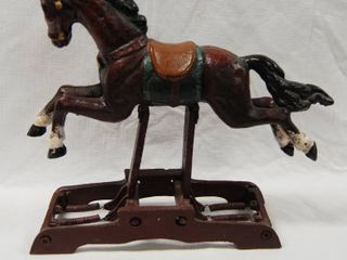 Beautiful METAl Rocking Horse   It Rocks Back and Forth