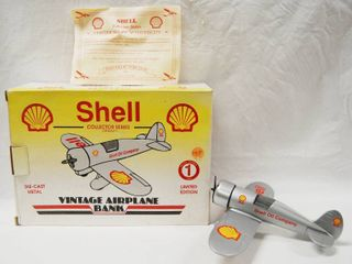 limited Edition  SHEll Collector Series  Vintage Airplane Bank w Original Box