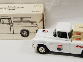 1955  Pepsi  Pickup Truck  w  locking Coin Bank with Key   Die Cast Metal