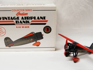 Indian Vintage Airplane Bank Collector Series  Die Cast limited Edition Coin Bank