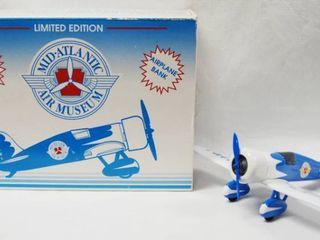 limited Edition  Mid AtlanticAir Museum Airplane  with Coin Bank   Die Cast Metal