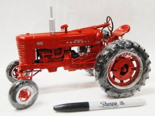 Farmall 400 Tractor   Die Cast Metal  Plastic Still on Wheels  See Photos Very Collectible