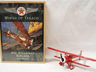 Wing of Texaco  1931 Stearman Biplane Great Buy