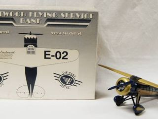 Collectible  Air Eastwood Flying Service Bank Airplane Great Christmas Present