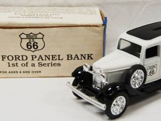 1932 Ford Panel Bank  No  1 in Series  with locking Coin Bank w  Key Has Original Box
