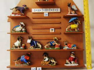German Shepherd Calendar  with 12 German Shepherd Figurines for the Month  See Photos For Individual Pics  The Danbury Mint