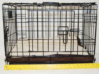 Metal Animal Crate w  Handles  For Dogs  Cats  etc  ClEAN