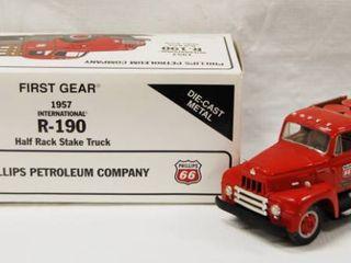 1957 International R 190 Half Rack Truck  Die Cast Metal  Collectible