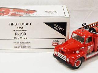 First Edition 1957 International R 190 Fire Truck   Die Cast Metal  Very Cool