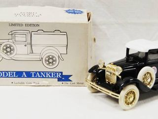 limited Edition Model A Tanker Truck  lockable Coin Bank   Die Cast Metal