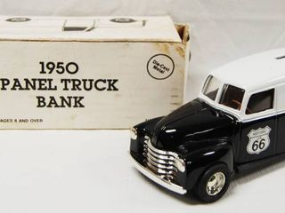 Phillips 66 1950 Panel Truck Bank  with locking Coin Bank w  Key AWESOME GIFT