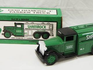 1930 Diamond T Tanker Shamrock  with lockable Coin Bank and Original Box
