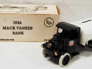 1926 Mack Tanker Bank Truck  with lockable Coin Bank   Phillips 66  Die Cast Metal GREAT CHRISTMAS GIFT
