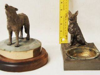 Wolf Decor  and a German Shepherd Ash Tray