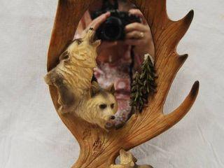 Antler  Wolf w  Mirror Decor