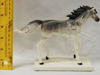 Very Pretty Horse Decor  with Wolf Faces on it See Photos  Handcrafted