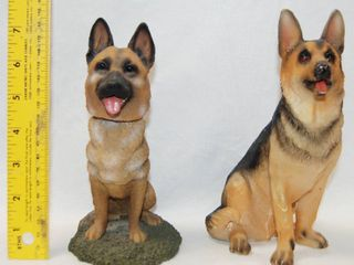 2 German Shepherd Collectible Figurine  1st one in Photo is a Bobble Head