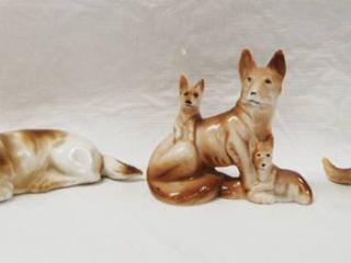 3 Collectible German Shepherd Figurines