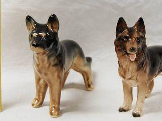 2 German Shepherd Collectible Figurines