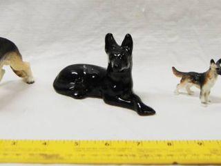 lot of 4 German Shepherd Small Figurines