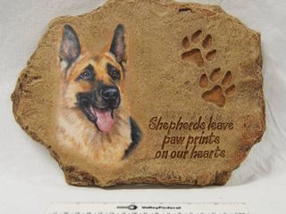 Beautiful German Shepherd Plaque  B5516  limited Edition  Shepherd leave Paw Prints on Our Hearts