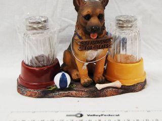 German Shepherd Collectible  Salt and Pepper Shakers