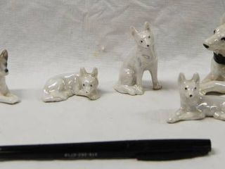 lot of 6 Small Collectible German Shepherd Figurines