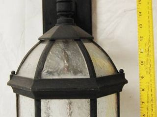 Very Nice  Outside Black w  Glass light fixture  Matching Fixture on lot 2926  amp  2927