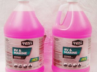 2 Full Containers of Super Tech RV   Marine Antifreeze   50 Burst Protection
