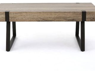 Christopher Knight Home Abitha Faux Wood Coffee Table  Canyon Grey